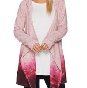 CUDDL DUDS Ombre Fleece Wrap with Hood & Pockets